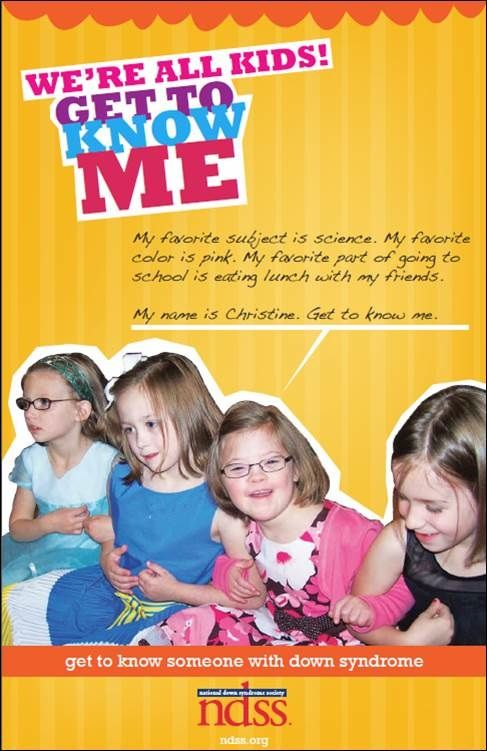 """""""Get to Know Me"""" Poster and Lesson Plan - National Down Syndrome Society"""