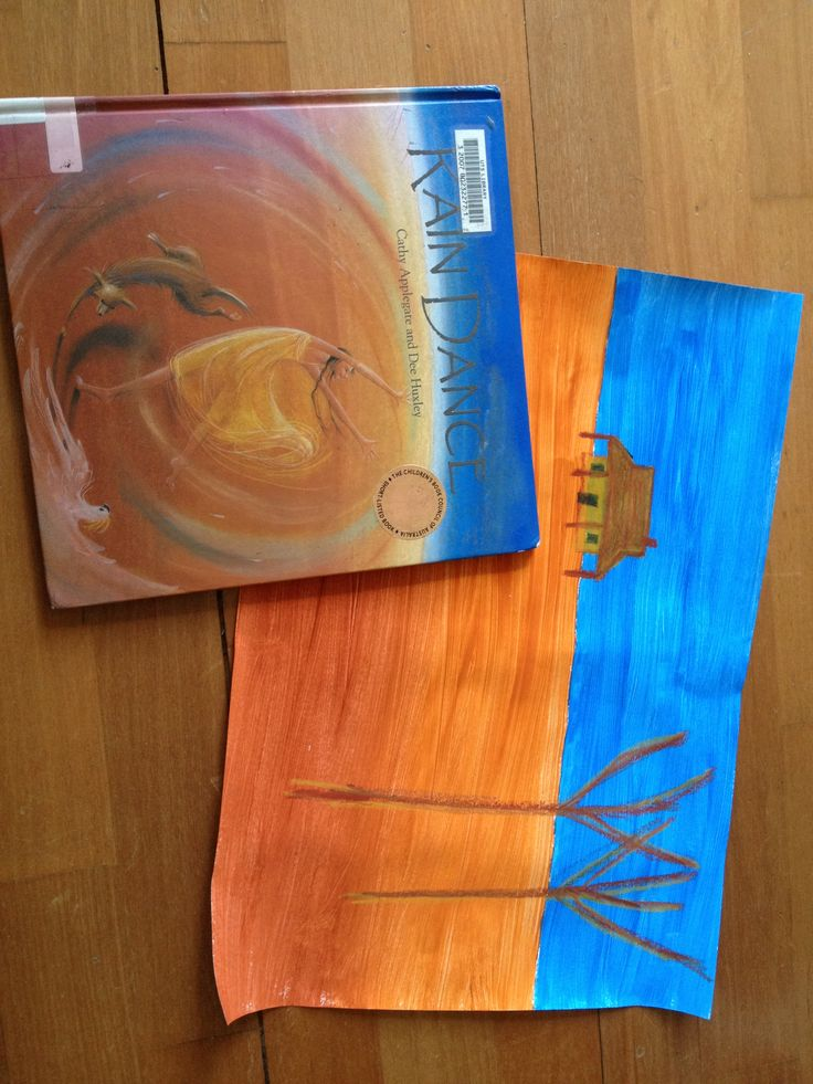 Dry environment art - droughts - linked to rain dance book