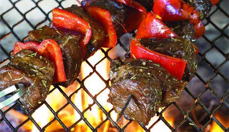 Steak sosaties with rosemary and balsamic marinade
