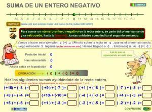 Blog de 6º Cortijos Nuevos: Suma de un entero negativo