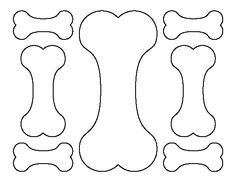 Dog Bone pattern. Use the printable outline for crafts, creating stencils, scrapbooking, and more. Free PDF template to download and print at http://patternuniverse.com/download/dog-bone-pattern/