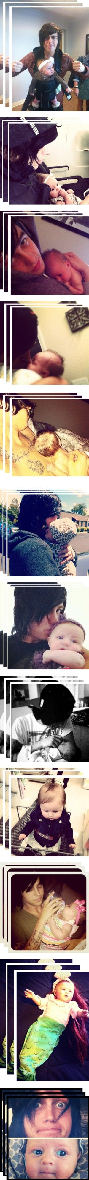 God, Kellin is such a great father. Copeland is a lucky little girl. (: