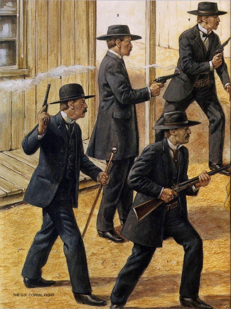 Caracterización - 1. John Henry Holliday - 2. Virgil Earp - 3. Wyatt Earp - 4. Morgan earp
