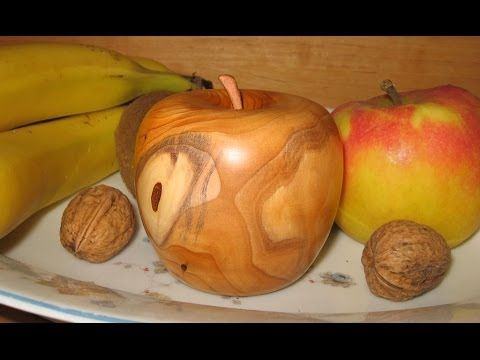 Woodturning - Making a Wooden Apple - YouTube