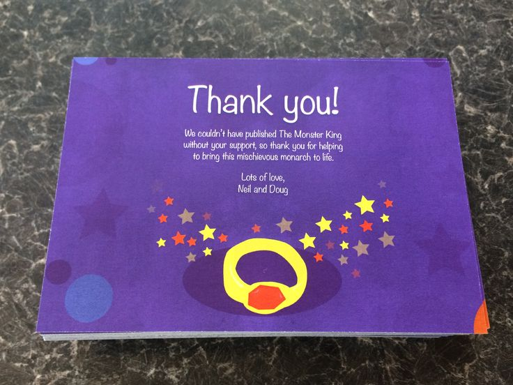 Postcards can easily be turned into Thank you cards.  Created with you own design - or we can do it for you if you have an idea.