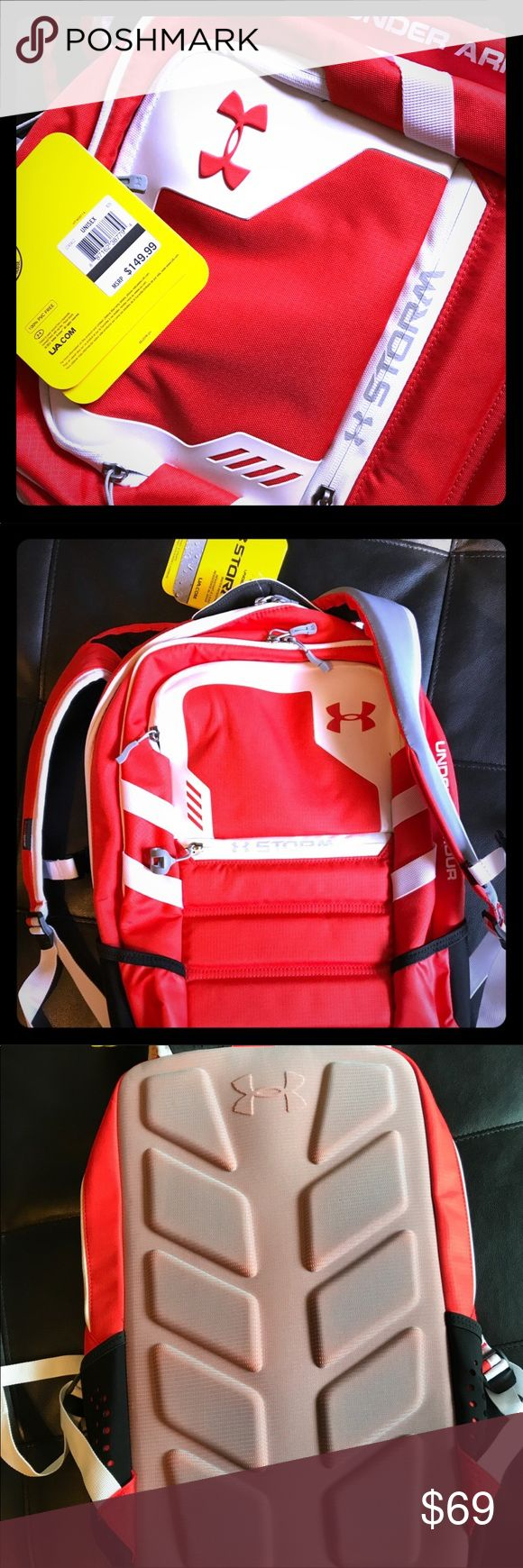 Under armor storm series backpack brand new w/tags Band new under armor backpack, new with tags, this is a nice bag! Half of retail price! Under Armour Bags Backpacks