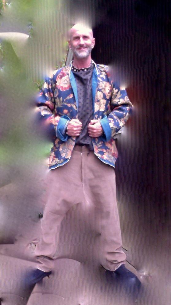 Rawmence by Walter Heidkampf. Summer 2015. Jacket made of furniture fabric
