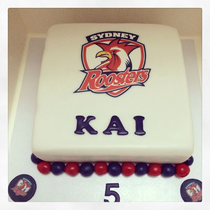 Birthday Gift Idea Sydney: Sydney Roosters Themed Cake