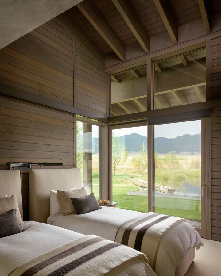 Montana Ranch House By Suyama Peterson Deguchi: Great Design For A Guest Room