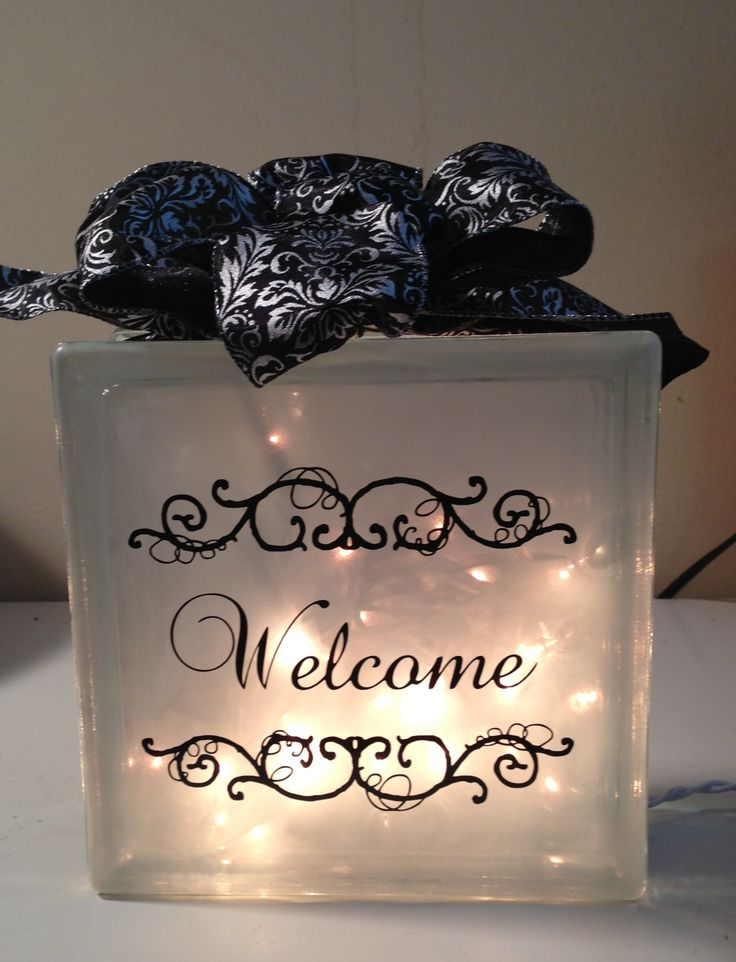 Lighted glass block craft ideas pinterest design for Glass block crafts pictures