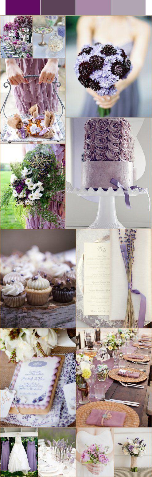 violet and lavender wedding ideas