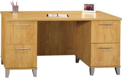 Bush Wc81428 03 Somerset 60 Inch Computer Desk 2 File Drawers That Hold Letter Size Files 2