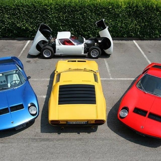Four Bad Cars. Lamborghini MiuraSuper ...