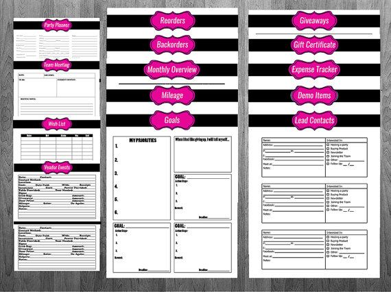 direct sales printable planner pure romance  thirty one
