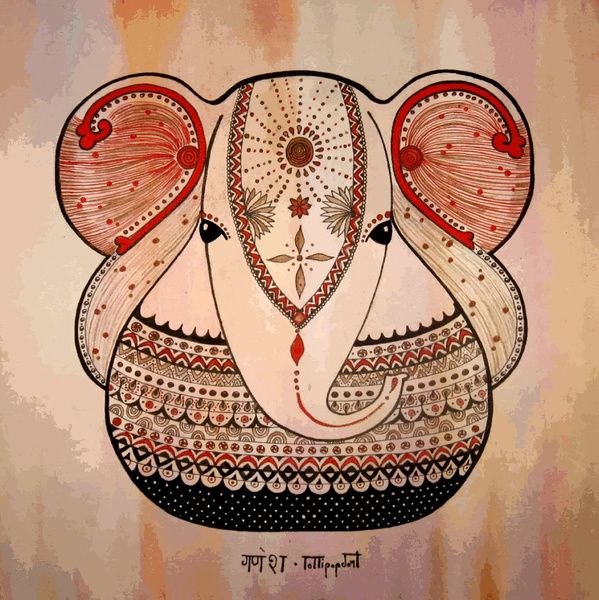 ➳➳➳☮ American Hippie Art - Indian Elephant