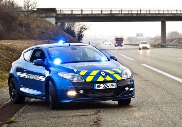 Yes, it's France Police Car, 2011 Renault Megane Coupe RS