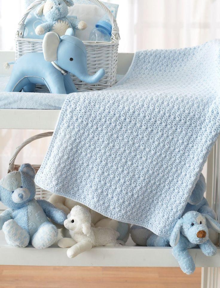 Bundle in Blue Crochet Baby Blanket Pattern   Easiest crochet baby blanket.