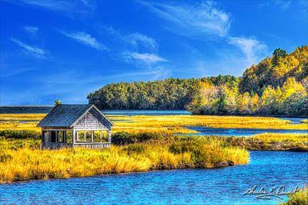 A scenic view near Ingonish on The Cabot Trail in Cape Breton, Nova Scotia.