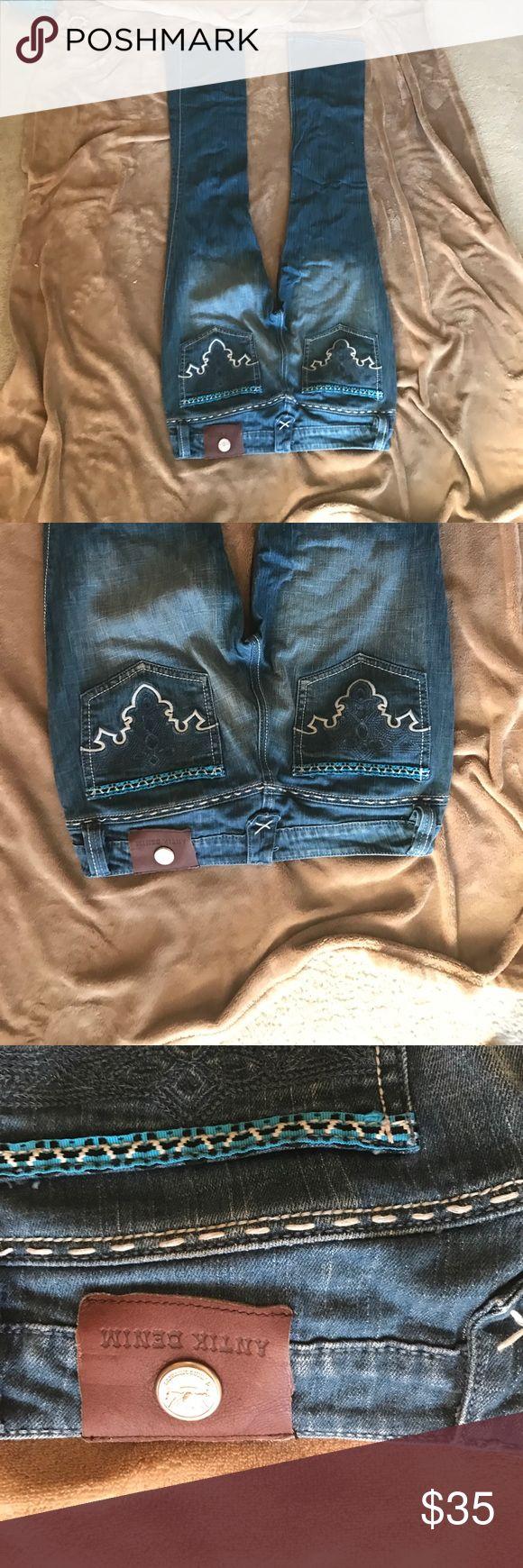 Antik bootcut like new jeans 30x34 fit like 29 Never worn Antik Batik Jeans Boot Cut