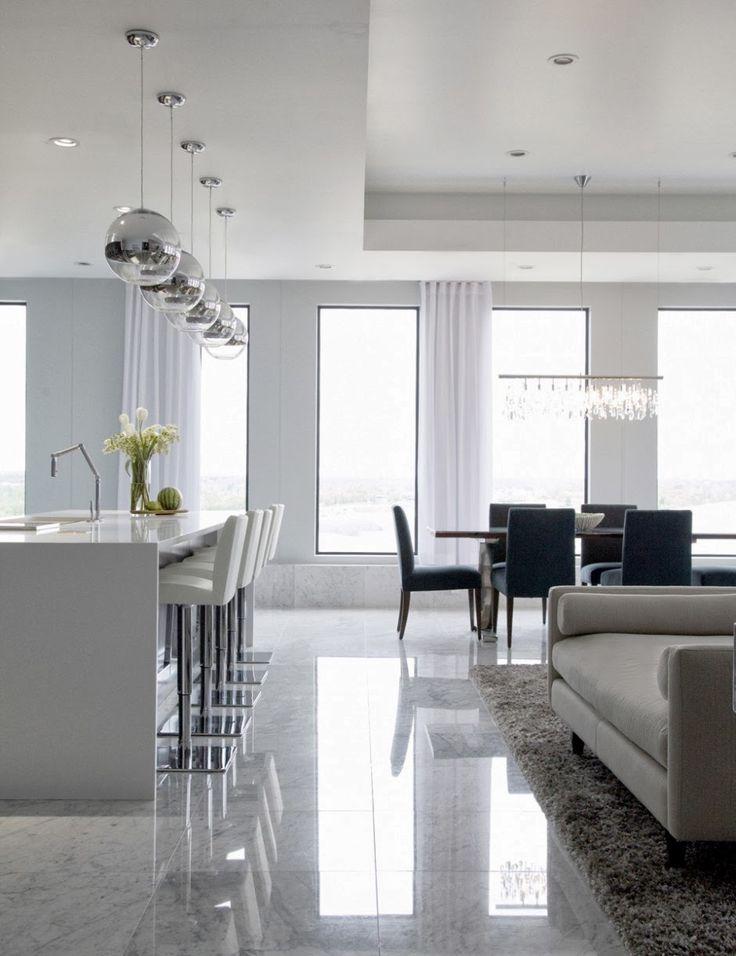 Die besten 25+ Offene küchen im minimalistischen stil Ideen auf - moderne wohnzimmer mit fliesen