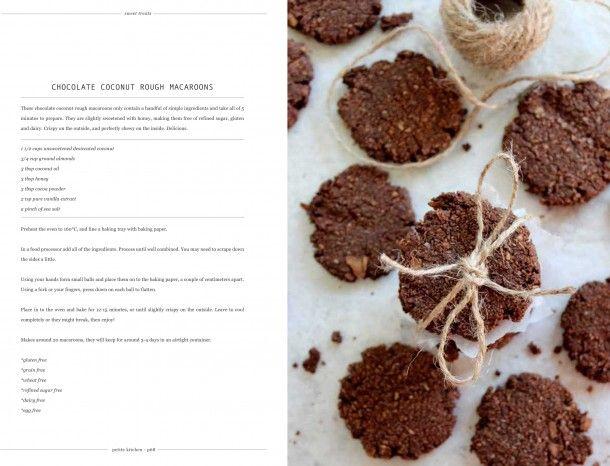 #Petite Kitchen Coconut choc macaroons