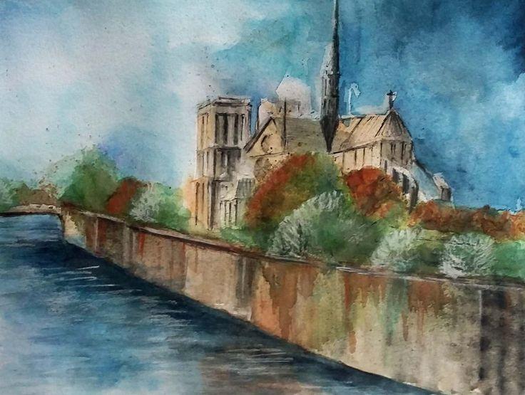 Parigi   -   Acquerello 18x24cm