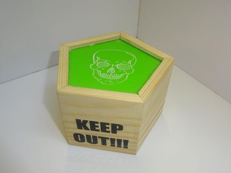 JD wooden box.