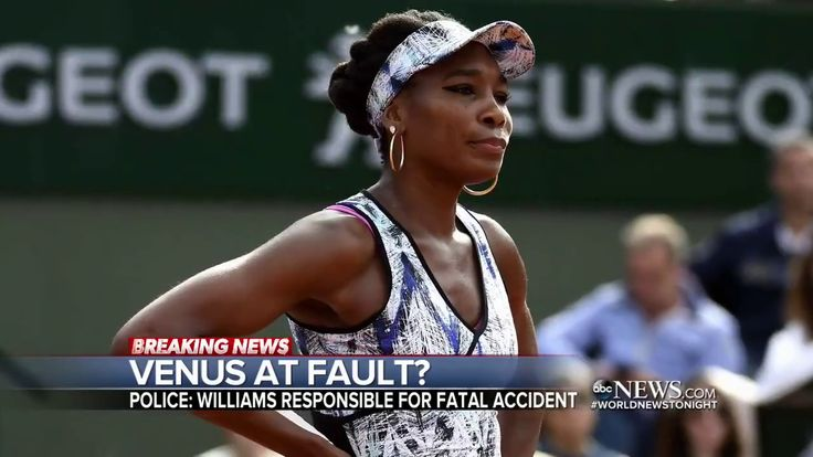 Police: Venus Williams at fault in fatal car crash