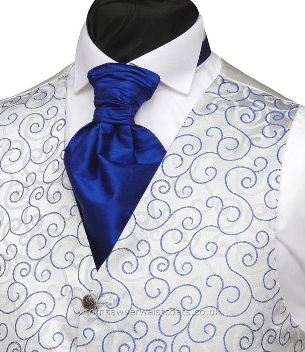 Wedding Waistcoats : Blue Waistcoats : Royal Blue 'Rumours' Waistcoat