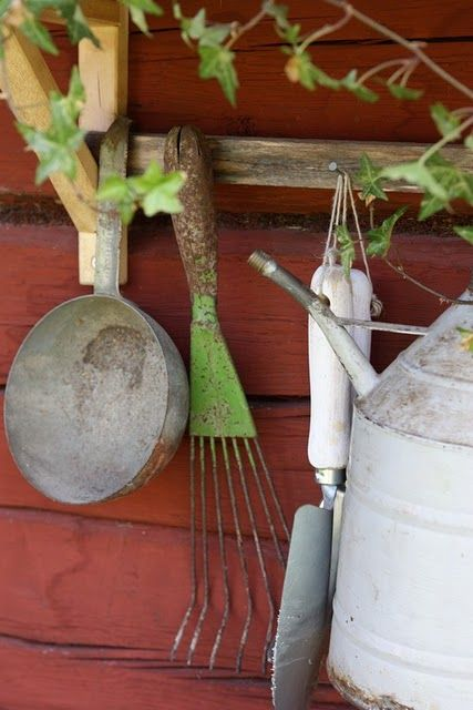 Old tools in the potting shed.............