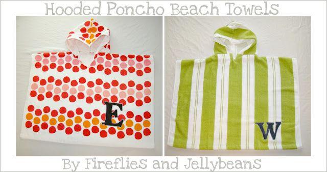 hooded poncho towel tutorial - uses one beach towel