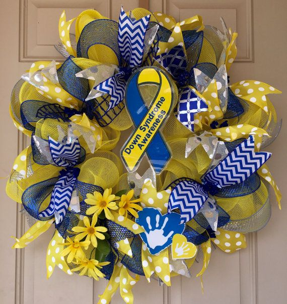 Down Syndrome Awareness Decor Wreath by LifeBySoniaWreaths on Etsy