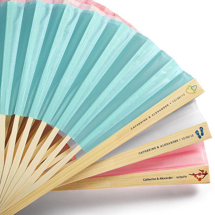 Silk Fan with Personalized Label $1.29 each