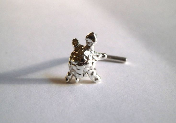 Excited to share the latest addition to my #etsy shop: Silver Nose Stud, Tiny Nose Stud, Turtle Nose Stud, Minimalist Nose Stud, L Shaped, Left Screw End, Right Screw End, From 20 to 18 Gauge http://etsy.me/2DDV0h9 #jewellery #animals #no #women #silver #stud #nosestud