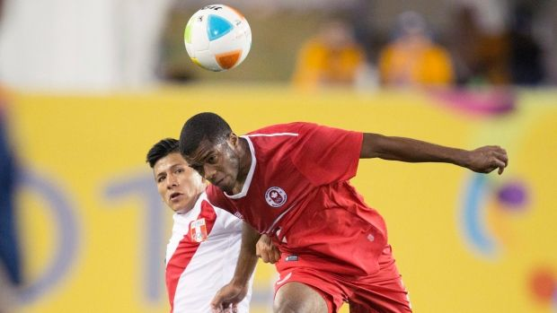 Canada's men's soccer team(pictured here at the Toronto 2015 Pan Am Games) will take on the U.S., Panama, and Cuba in round-robin play at the CONCACAF Olympic qualifying tournament in October.