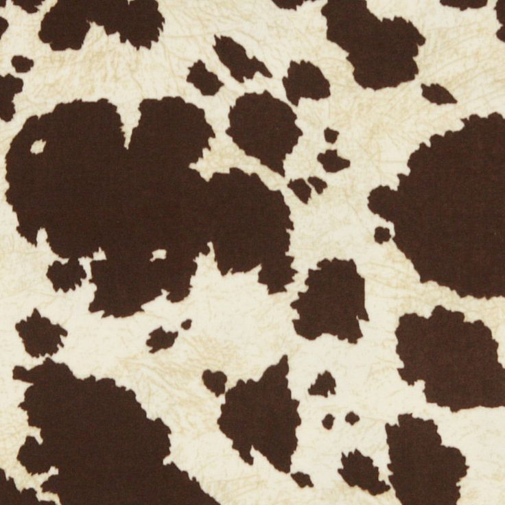 Brown cow print fabric for upholstery - <3