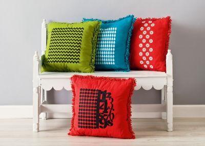 Handmade Charlotte™ Patterned Pillows: Charlotte Pillowshandmad, Charlotte Graphics, Fabrics Decoration, Pillowshandmad Charlotte, Handmade Charlotte, Crafts Idea, Diy'S Decoration, Crafts Stores, Graphics Patterns