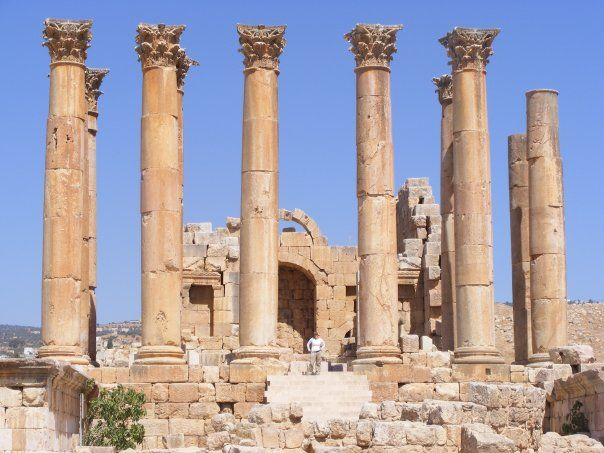 Assistant Project Manager Victoria at the Temple of Artemis in Jarash, Jordan.