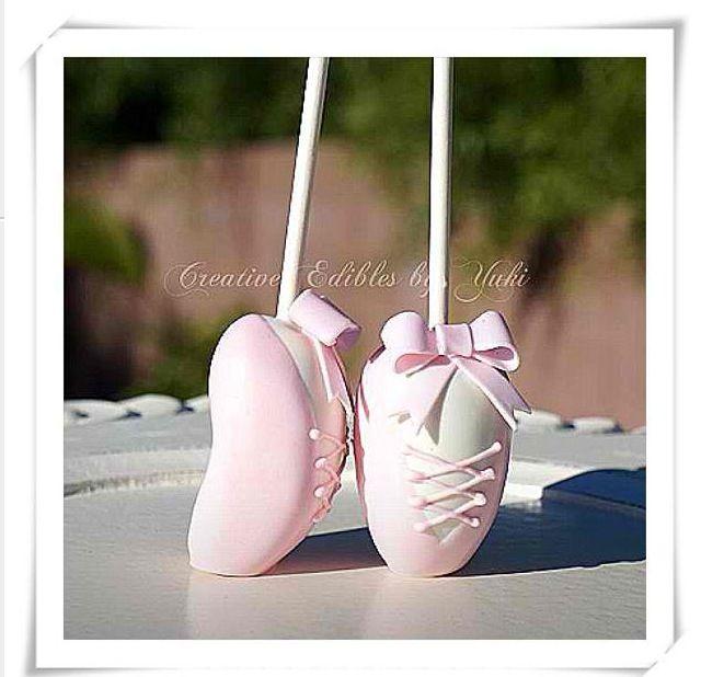Cake pop ballerina shoes