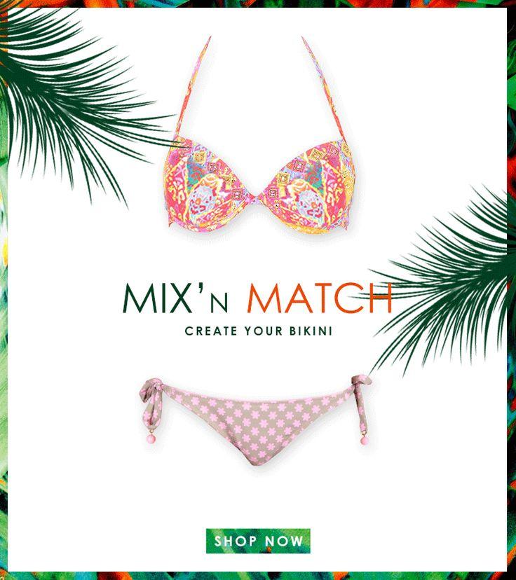 Create your style with Bikiniworld! #mixandmatch #swimwear #beachwear #shoponline