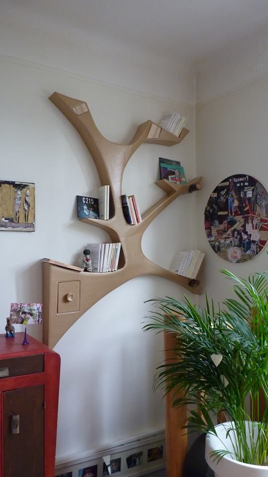 "Etagère murale en carton design ""branche"""