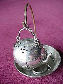 Art, Books, Tea: Antique Tea Accoutrements. Tea strainer