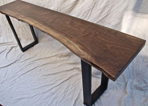 Entry Or Sofa Table From Custom Made Website Live Edge Walnut Console