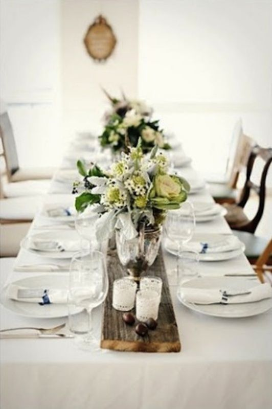 30 Wedding Table Runner Ideas - Crisp, Clean Beautiful Vintage Wedding Decor