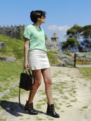dailyshooting Outfit  botines zara falda topshop look tendencias  Primavera 2013. Cómo vestirse y combinar según dailyshooting el 15-5-2013
