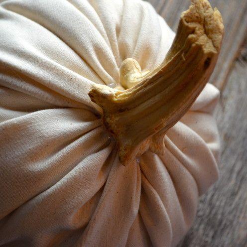 DIY how to make fabric pumpkins. Easy.