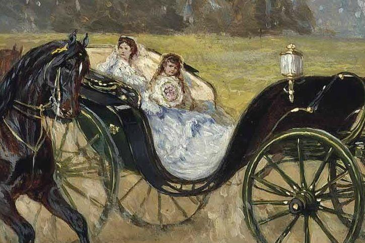 Empress Elisabeth and Archduchess Marie Valérie