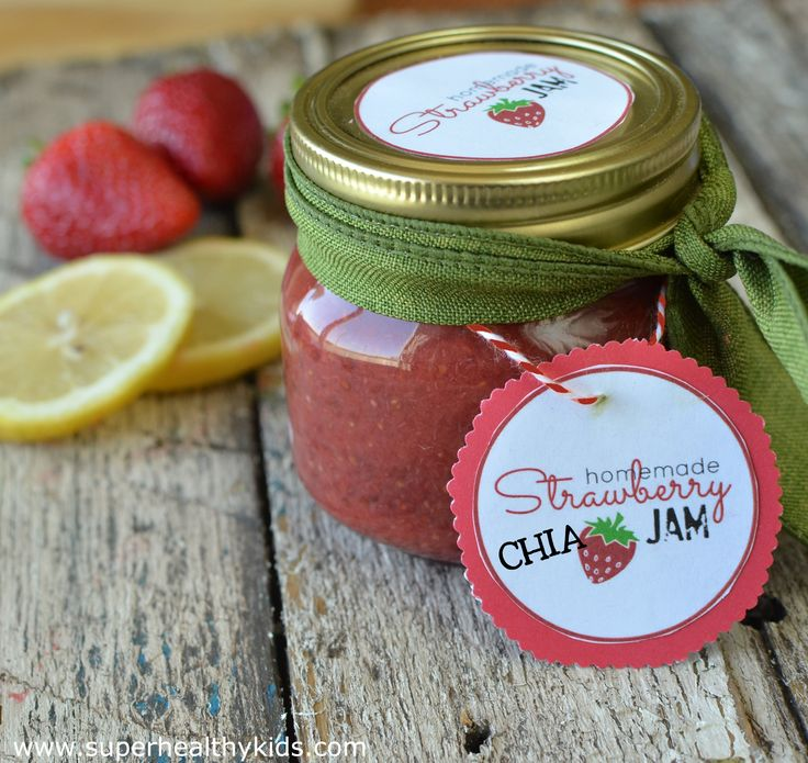 Strawberry Chia Jam by Super Healthy Kids
