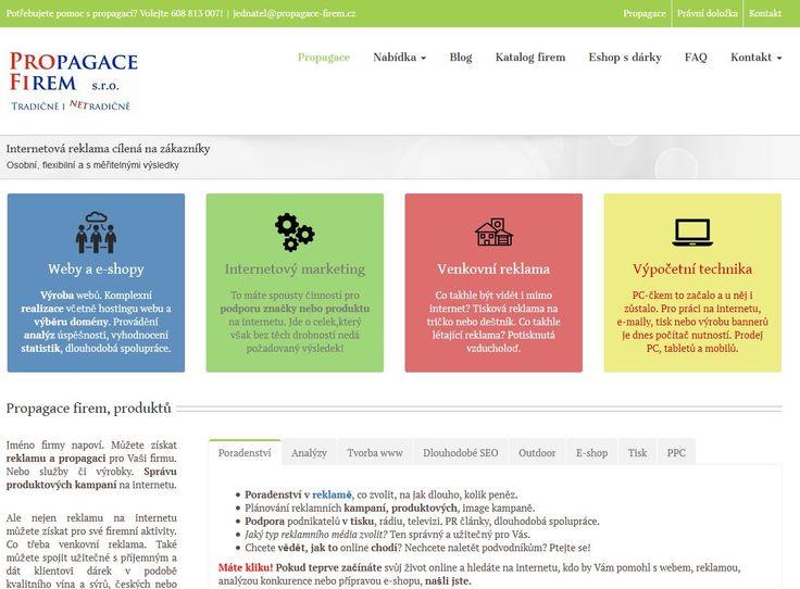 Snímek webu Propaagce firem