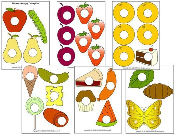 The Very Hungry Caterpillar free printable story props